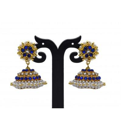 Imitation Temple Jewellery Blue Jimikki