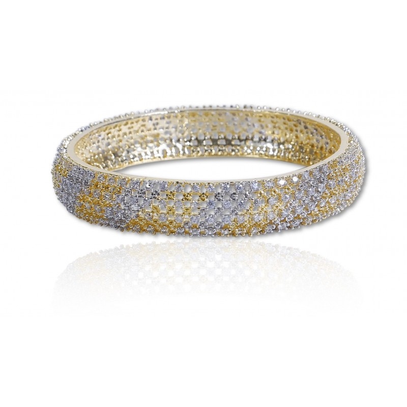 pave diamond white w burnished bangle bracelets diamonds