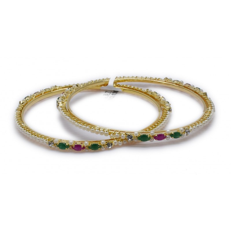 maia green with gold grande collections stone red beads products and bangles