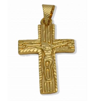 Micro Gold Plated Designer Cross Pendant