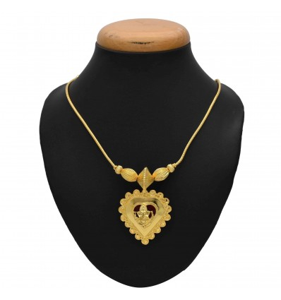 One Gram Gold Plated Chain With Lord Ganesha Pendant