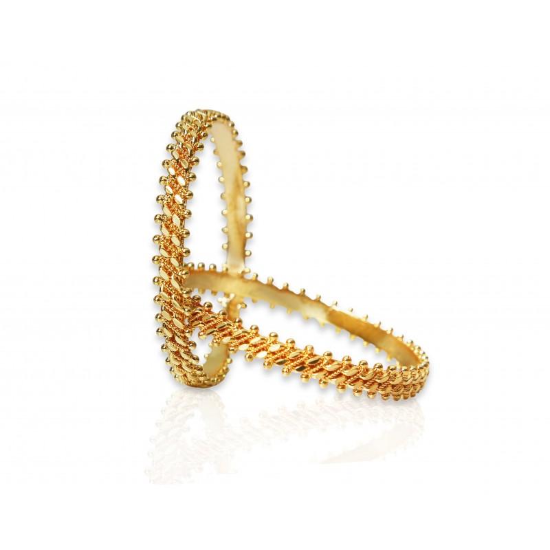 Buy Gold Plated Two Line Chemmen Bangles line Kollam Supreme