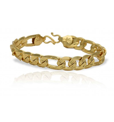 Gold Plated Gent's Sachin Bracelet