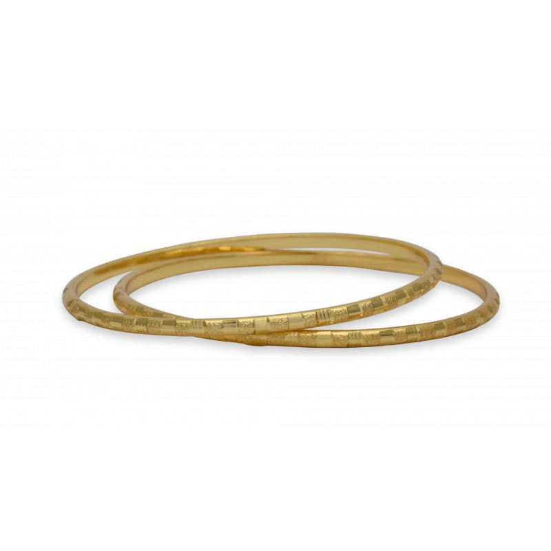 Buy Simple Gold plated Square Cut Bangles Online|Kollam Supreme