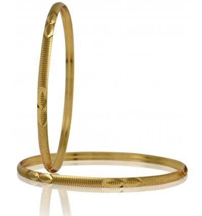 Micro Gold plated Designer Thin Bangles