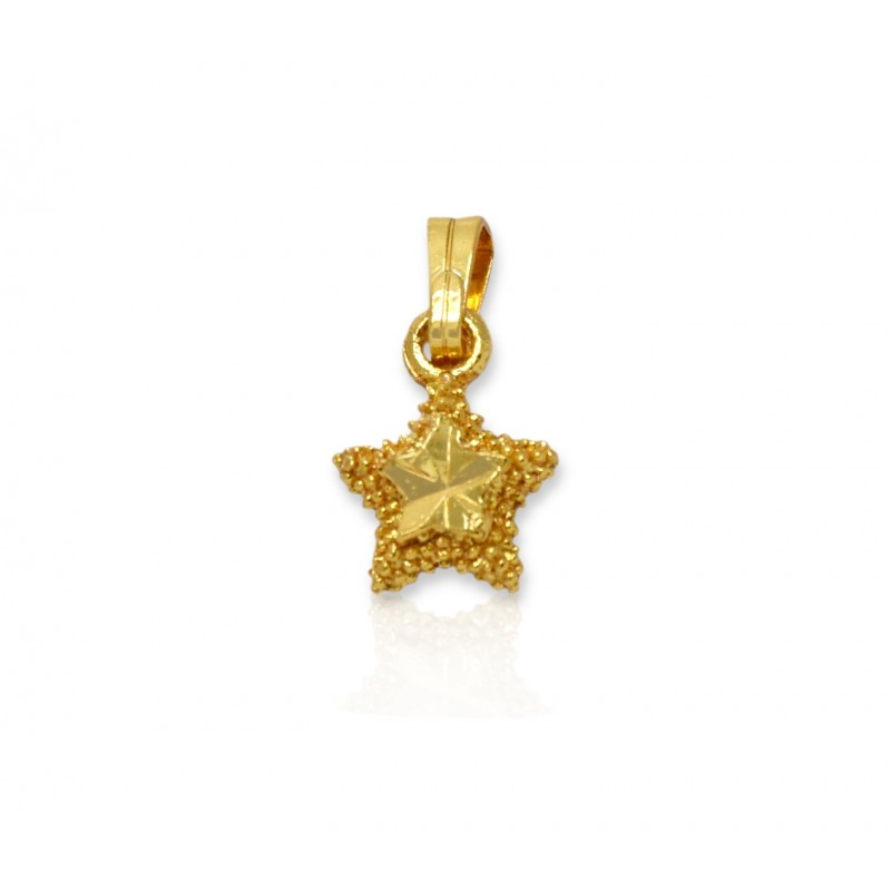 Buy gold plated small pear shape pendant onlinekollam supreme gold plated small star designer pendant aloadofball