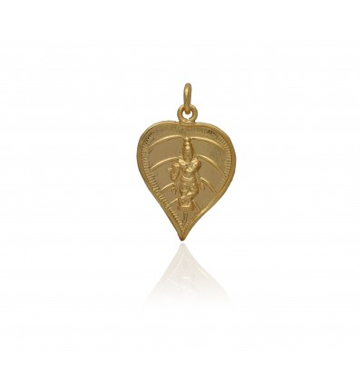 Gold Plated Traditional Lord Krishna Thali Pendant