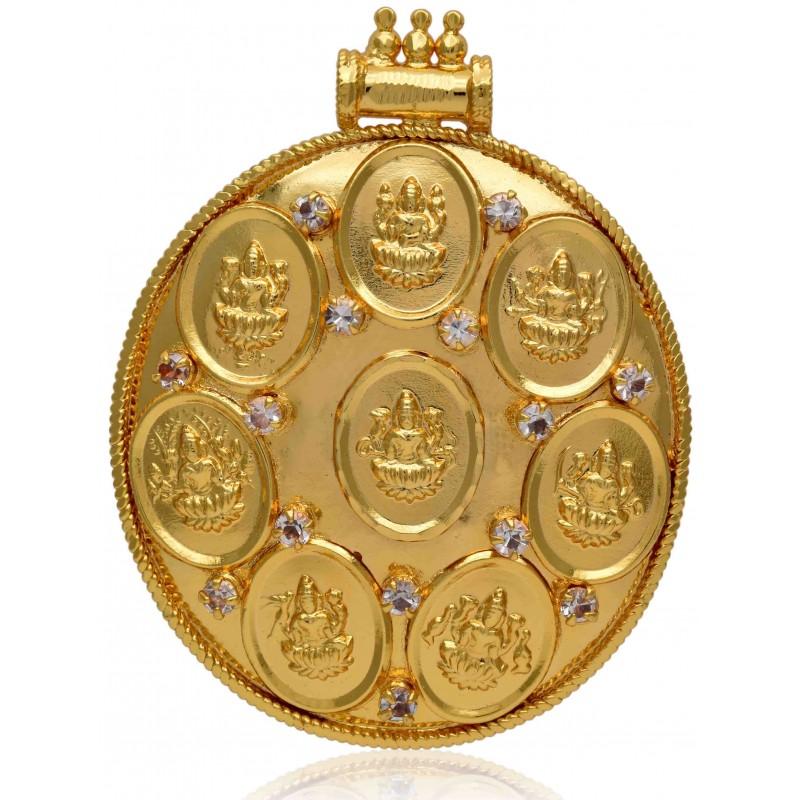 Buy Gold Plated Ashta Lakshmi Pendant Online Kollamsupreme