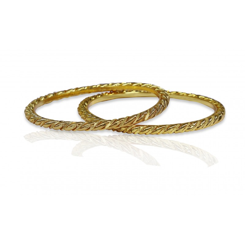 Buy Stylish Gold Plated Designer Wire Bangles Online|Kollam Supreme