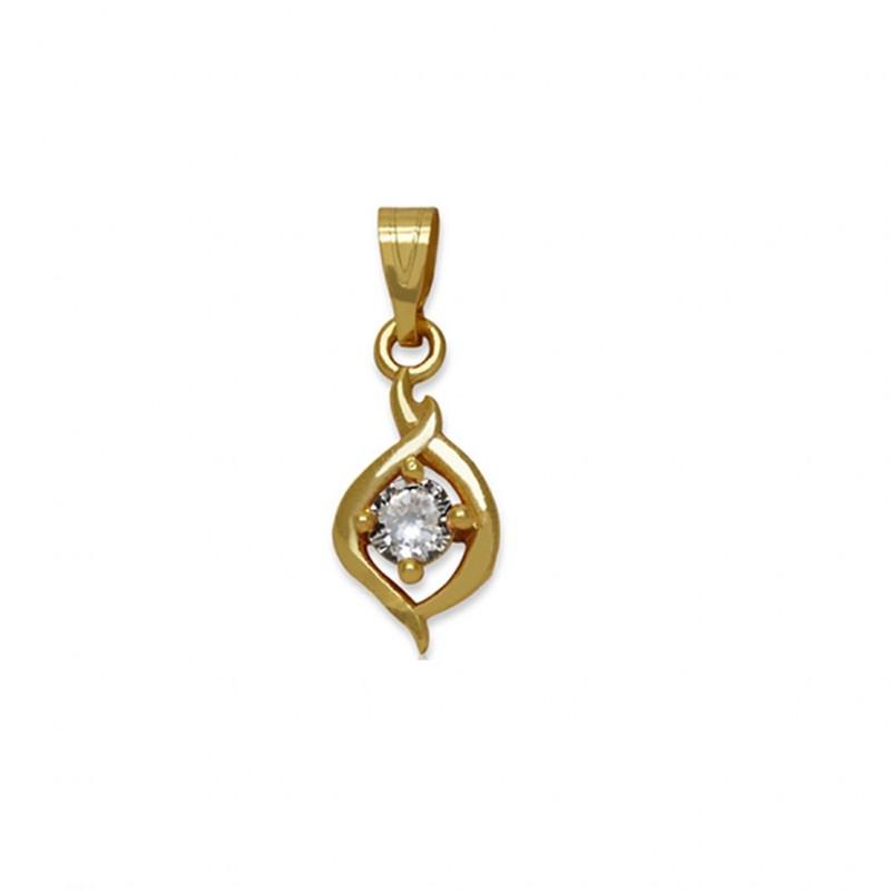 Buy Gold Plated Designer Pink Stone Pendant Online|kollam Supreme