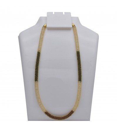 Gold Plated Thick Crystal Net Custom Chain
