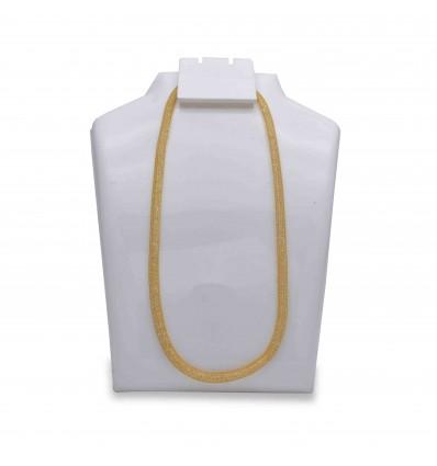 Stylish Gold Plated White Crystal Net Custom Chain