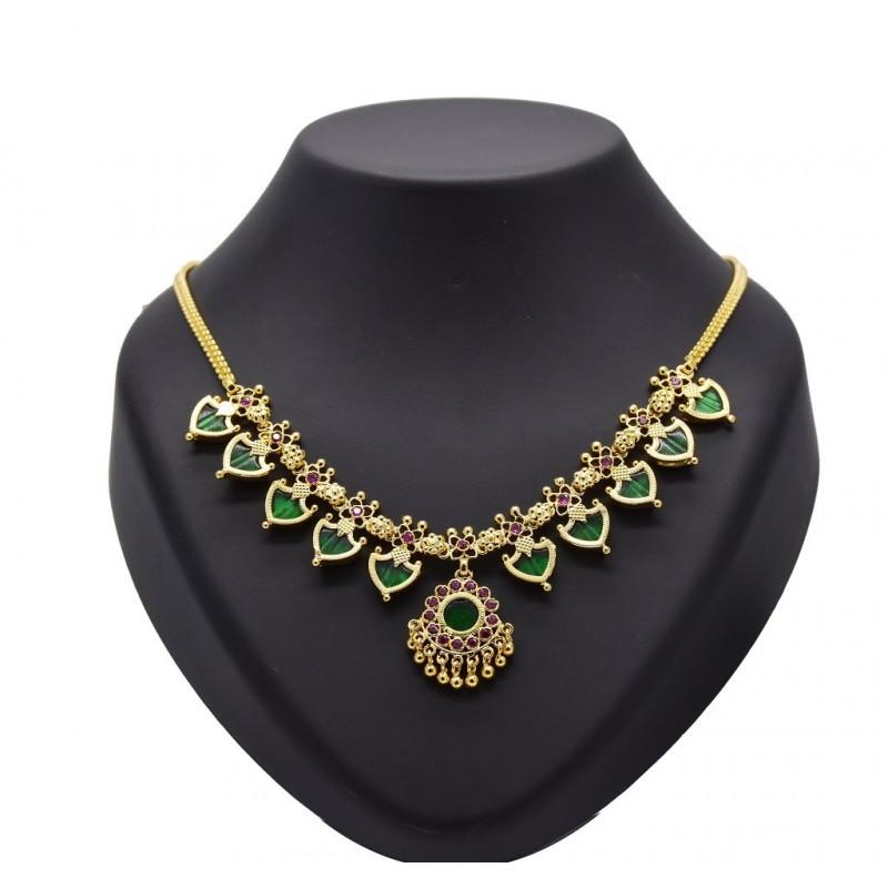 buy traditional blue palakka necklacekollamsupreme