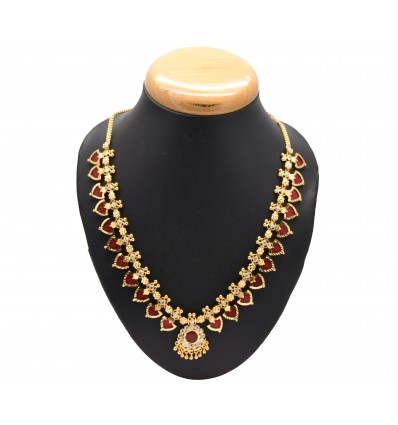 Buy Gold Plated South Indian Palakka Necklace Online