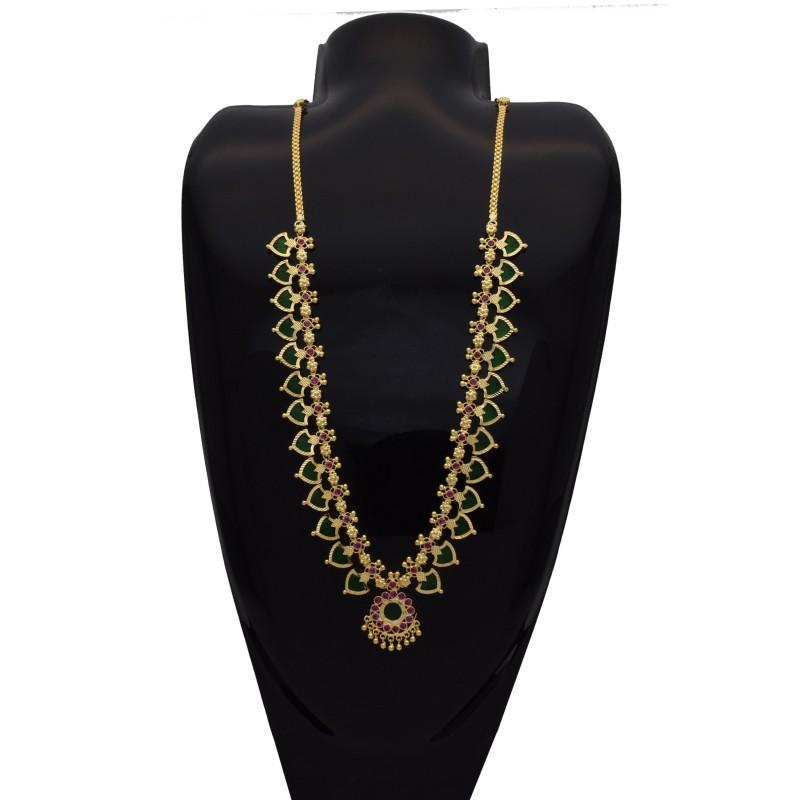 Buy One Gram Traditional Palakka Necklace Online Kollam