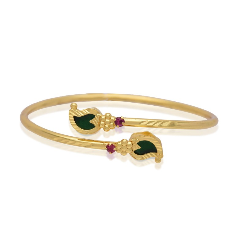 Buy One Gram Gold Open Mango Bangle Bracelet Online|Kollam ...