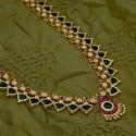 Traditional Kerala Green Palakka Long Haram/Chain