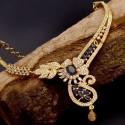 Elegant Gold Plated Designer Semi-Precious Stone Necklace