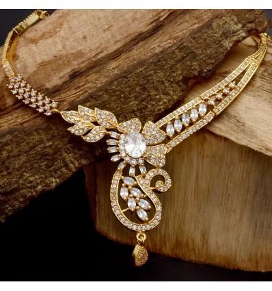 Elegant Gold Plated Designer Stone Necklace