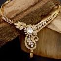 Elegant Gold Plated Designer Semi-Precious Stone Necklace