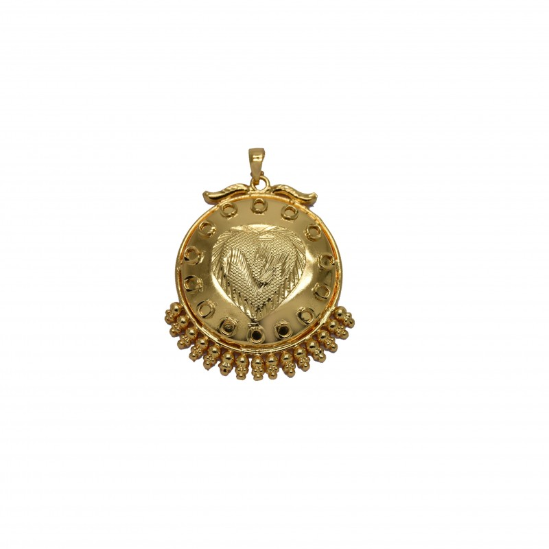 Buy gold plated om heart big pendant onlinekollamsupreme gold plated om heart pendant aloadofball Gallery