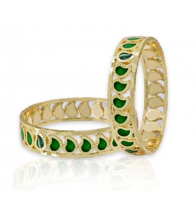 Beautiful Traditional Green Palakka Mango Bangle