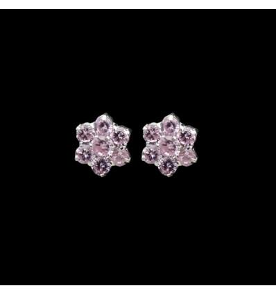 Beautiful Floral Designed Pearl Ear Studs