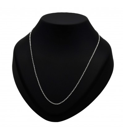 Thin Silver Figaro Chain With Rounded Clasp Hook