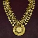 Gold Plated Godess Small Lakshmi Coin Haram