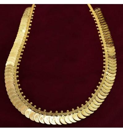 Gold plated Lakshmi Cash Long haram