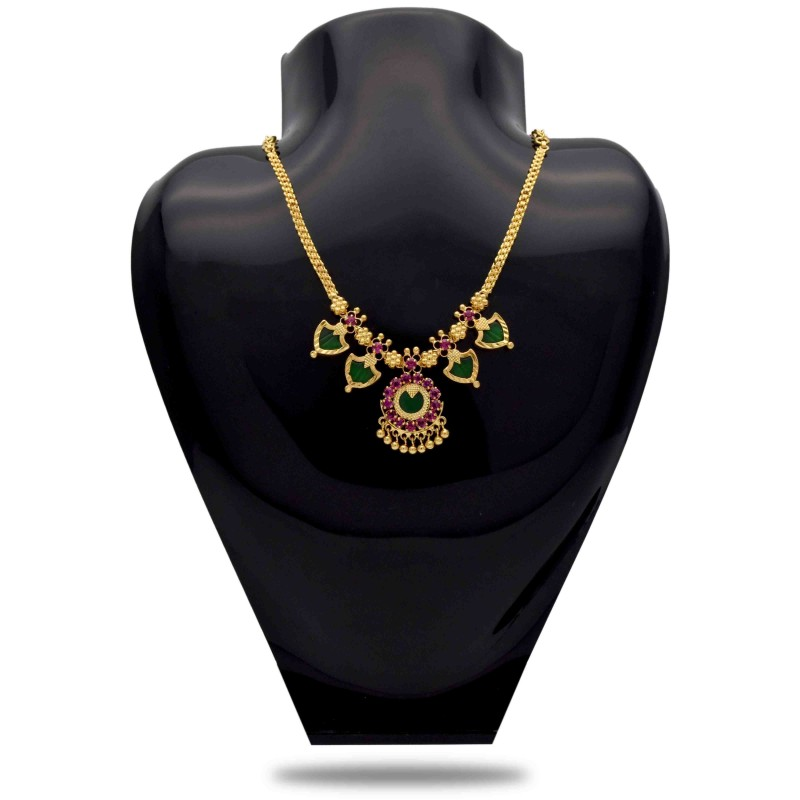 Buy One Gram Gold Plated Palakka Necklace Online Kollamsupreme