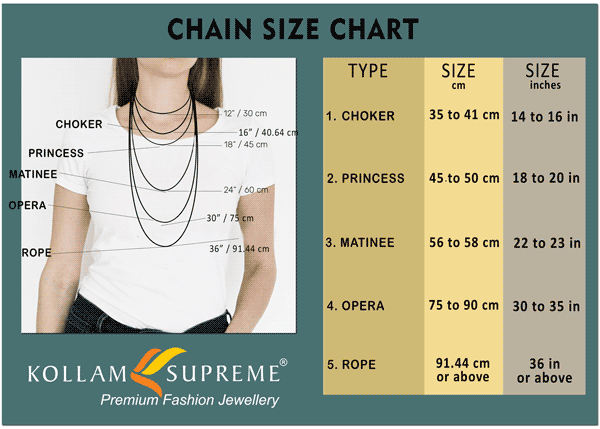 Chain size guide