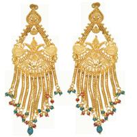 Artificial wedding earrings